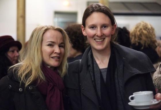 Martina Weiser (Ananda Köln) mit Lena Morgenroth - man kennt sich über gemeinsame Freunde und durch die Crowdfunding Aktion für den Film